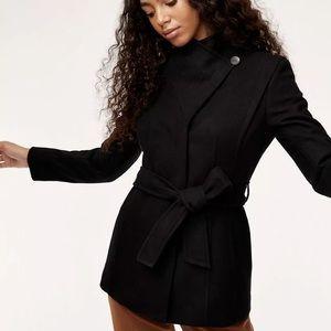Aritzia Babaton Spencer wool cashmere black coat